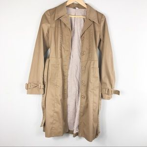 DIVIDED khaki trench coat